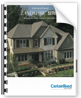 Landmark series roofing shingle brochure