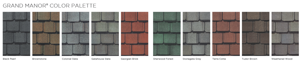 Tallahassee roofing contractor shingle color grand manor